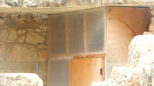 Sperrholzverschlag im Palast von Knossos