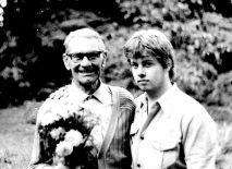 Großvater mütterlicherseits und ich 1981